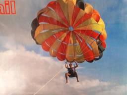 Parasail 26 pés com cadeira e 50 m corda, novo