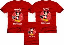 Camisetas Aniversário Mickey e outros temas Oferta e8b62da8eaf90