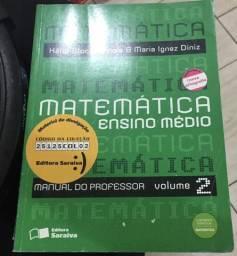 3 Livros Matemática Ensino Médio Manual Do Prof. Vol 1, 2 E 3