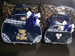 Vendo kit bolsa de bebê menino,novos leia a descrição!