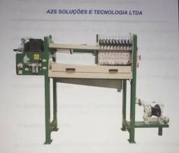 "Filtro prensa AZS 02 - 20 placas- semi automático - bomba de 1"""