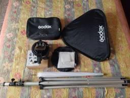 Softbox P/ Flash 60x60 Godox, tripé em alumínio profissional, mais brinde