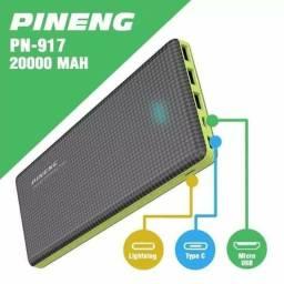 Power Bank Carregador Portátil Pineng Slim 20000mah Original