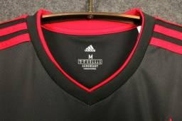 Camisa Flamengo III 20/21 s/n° Torcedor Adidas Masculina - Preto<br><br>
