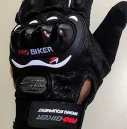 Luvas de Moto ou Bike Ventilada, Confortável e Antiderrapante - Novo Pro-Bike