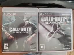PS3 Call of Dutty Black Ops I e II