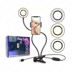 Ring Light com suporte para Celular