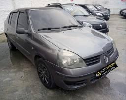 Renault Clio 2007 Sedan Authentique 1.0 arcond+direção+trava+revisado+novíssimo!!!