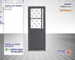 Porta de Ferro Xadrez - 80 x 210cm