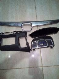Painel, suporte 2 Din, grade New Civic 2008