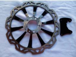 Disco de freio com suporte de pinça Titan Cbs 320 mm