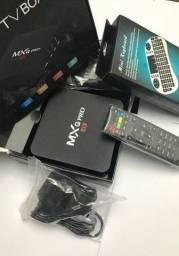Tv Box MxQ 256GB + Mini Teclado sem Fio, testado antes do Envio
