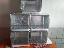 Isopor 45L cromada alumínio por dentro