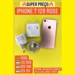 iPhone 7 Rose 32gb - aceitamos seu IPHONE usado como entrada