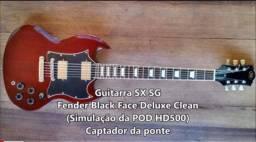 Top SX SG braço colado regulada gotoh d'addario cordas guitarra