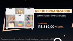 Estante de Nichos Organizadores c/gavetas