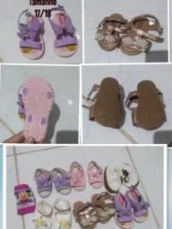 Lote sapatos e roupinhas bebê menina
