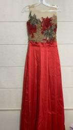 Vestido de Formatura/Casamento(Madrinha) Vermelho.