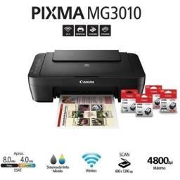 Promoção: Multifuncional  Canon MG3010 - Wi-fi / USB Nova - preta