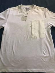 Camiseta Branca Zara P/M