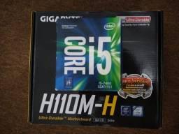 Vendo Processador i5 7gen + Placa Mãe GA MH110-H ( Leia a descrição )