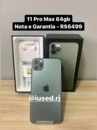 iPhone 11 Pro Max 64gb Nota Garantia - Aceito seu iPhone e Cartão
