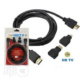 Cabo HDMI 3 em 1 Micro e Mini 1.5mts