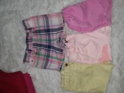 Shorts da Carter para bebê de 6 a 24 meses  tds em ótimo estado
