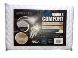 Travesseiro nasa double confort com espuma massageadora