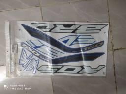 Adesivo de bros 160 azul