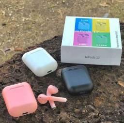 Fone de Ouvido Sem Fio, i12 TWS Bluetooth 5.0