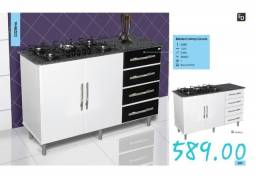 Balcão para cooktop moderna 1118