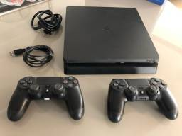 Título do anúncio: PS4 slin 500gb - 2 controles - usado