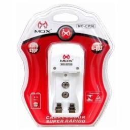 Mini Carregador Mox Multiplo Mo-cp30 Pilha Aa Aaa Bateria 9v