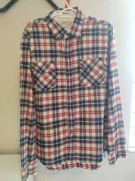 Camisa Reserva Manga longa botão Xadrez