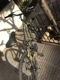Bicicleta CALOI Max Front - aro 24 - Preta e Amarela