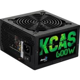 Título do anúncio: Fonte ATX Kcas 600W -  (Nova)  80 Plus Bronze PFC Ativo - Aerocool