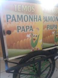 V carrinho de milho inox