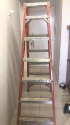 Escada de fibra de vidro Figueiredo 6 degraus