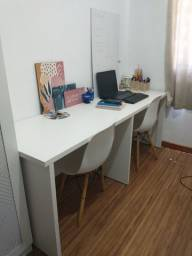 Mesa de escritório branca mdf