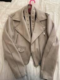 Jaqueta camurça cinza