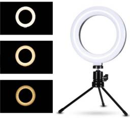 Ring Light Iluminador de Led 16cm (USB) com Tripé