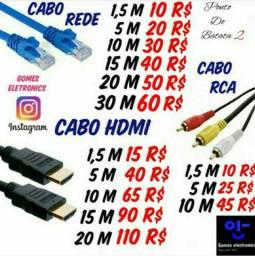 Cabo HDMI , Rede, VGA, RCA em Metros Variados ( Loja Fisica )