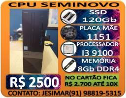 Computador PC Cpu I3 9ª Geração, Ssd 120Gb e memória de 8Gb Ddr4