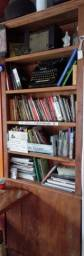 Estante de livros frente e verso peroba rosa