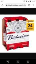 Caixa de Budweiser com 24 unidade meu zap *