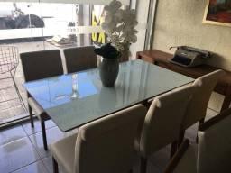 Mesa Laura copa e sala de jantar pintura Laka e madeira