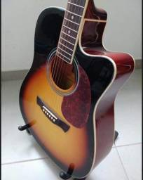 Violão Giannini Folk Elétrico GF-1R-CEQ-3TS