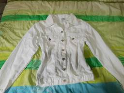 Jaqueta branca jeans t:m