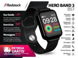 Entrega Grátis Maceió * Relógio Smartwatch Hero Band 3 Batimentos Pressão Passos - Preto